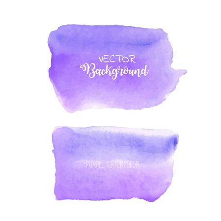 Purple watercolor background, Pastel watercolor logo, Vector illustration. Reklamní fotografie - 120518014