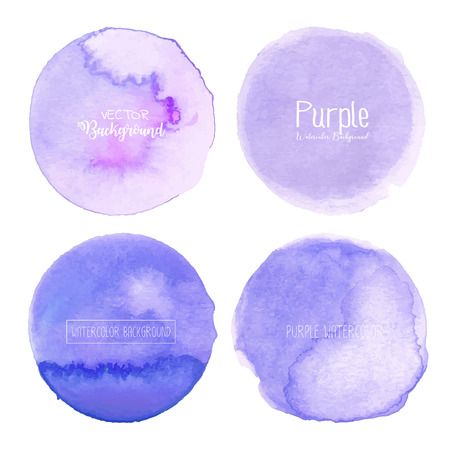 Purple watercolor background, Pastel watercolor logo, Vector illustration. Reklamní fotografie - 120518015