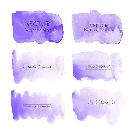 Purple watercolor background, Pastel watercolor logo, Vector illustration.