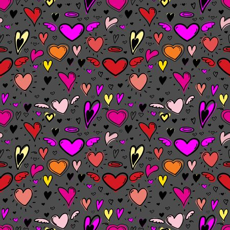 Heart seamless pattern background. Vector illustration. 矢量图像