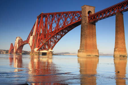 Forth Rail Bridge, South Queensferry, Scotland photo