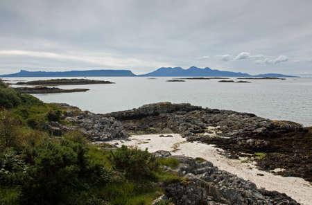 rhum: Isles of Eigg   Rhum from the  Road to the Isles , Scotland