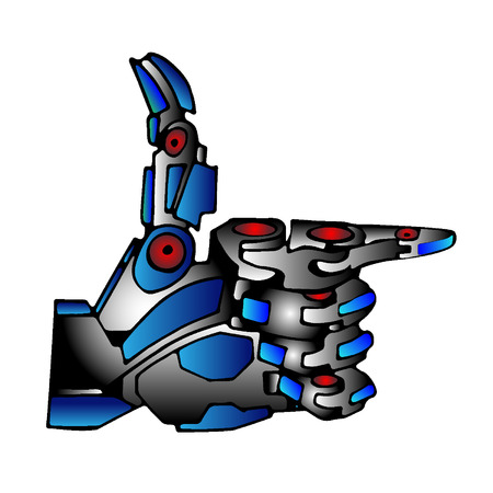 hand gun: Steel Robot Hand Gun