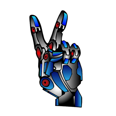 Steel Robot Hand Victory