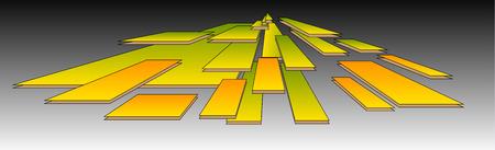 Flying Boards on Grey Background Ilustracja