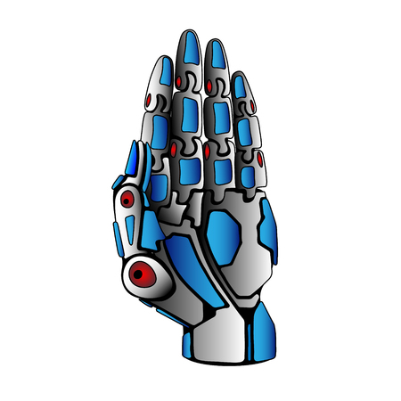 steel: Steel Robot Arm Palm