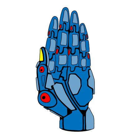 Blue Robot Arm Palm