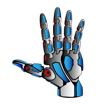 spreaded: Steel Robot Arm Palm Spreaded
