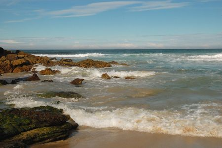 Surf On Rocky Beach
