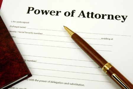 the official: Power of Attorney Stock Photo