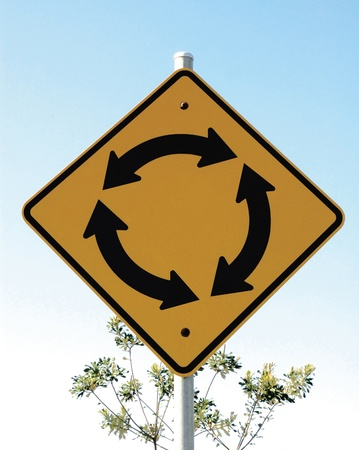 going nowhere: Roundabout Sign
