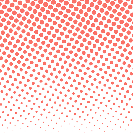 Modern vector design in Living Coral color with halftone effect. 免版税图像