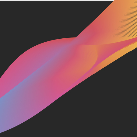 Neon style creative vector banner on black background.
