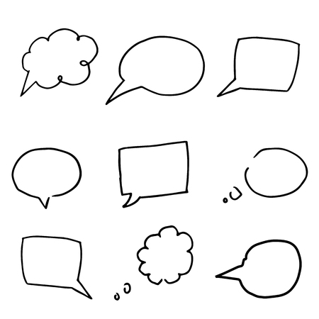 Creative vector collection of speech bubbles isolated on white.