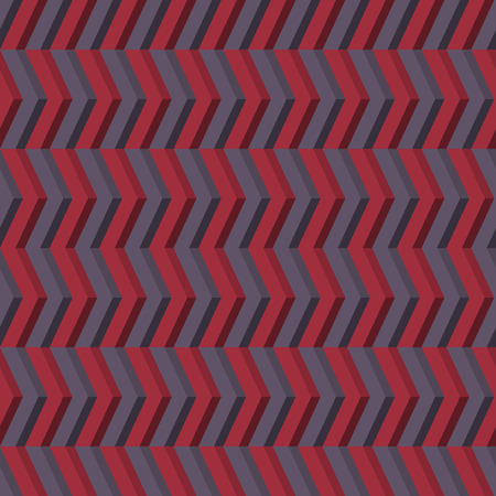 violet red: 3D Geometric seamless pattern. Vector background in violet and red tones