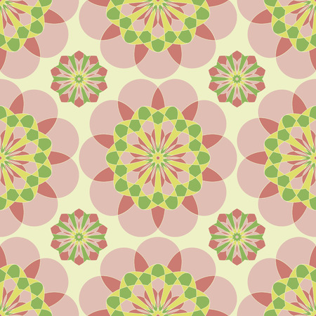Abstract vector pink floral seamless pattern background Vector