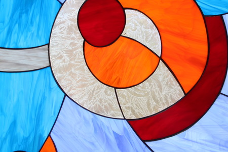 colored window: Stained glass window detail. Abstract colored background