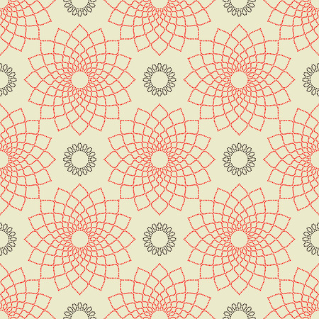 vintage wallpaper: Abstract seamless pattern. Vector illustration ornament from circles