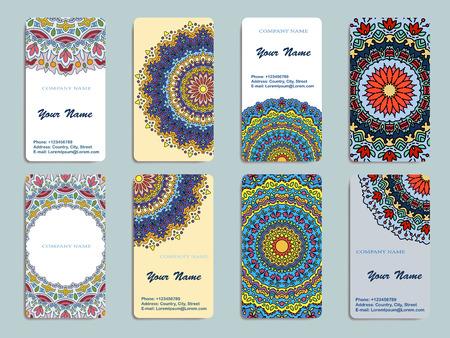 elementos: Colección Tarjeta de visita o invitación. Vector de fondo. Elementos decorativos vintage. Vectores