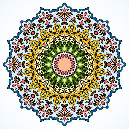 decorative elements: Vintage decorative elements. Vector colorful ornament pattern Illustration