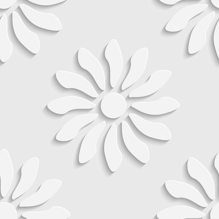 soft background: Seamless Flowers Pattern. Vector Soft Background. Regular White Texture