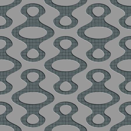 elipse: Patrón sin fisuras Elipse. Vector de fondo suave. Textura gris Regular