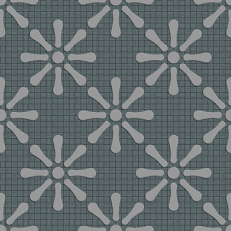 soft background: Seamless Flowers Pattern. Vector Soft Background. Regular Gray Texture