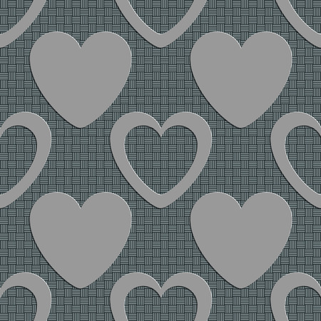 soft background: Seamless Hearts Pattern. Vector Soft Background. Regular Gray Texture