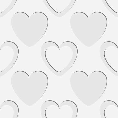 soft background: Seamless Hearts Pattern. Vector Soft Background. Regular White Texture Illustration