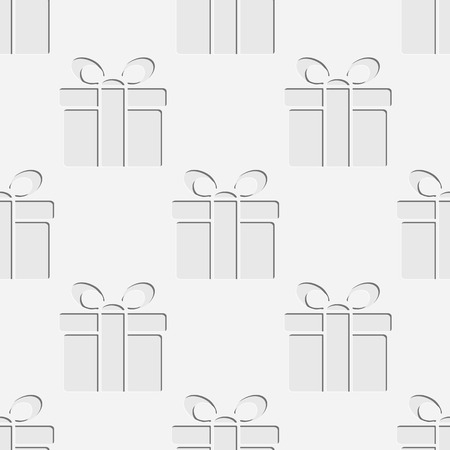 soft background: Seamless Gifts Pattern. Soft Background. Regular White Texture