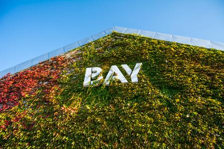 hokkaido: BAY Building cover by  plant in Hokkaido Stock Photo