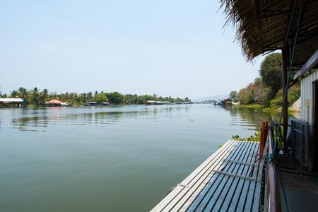 pontoon: River Pontoon on day Stock Photo