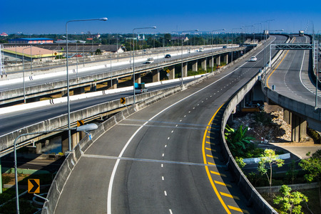 long weekend: When a long weekend in Thiland ,expressway  are empty Stock Photo