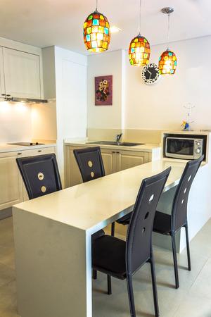 Luxurious kitchen with appliances