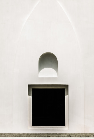 plainness: Abstract architrave window.