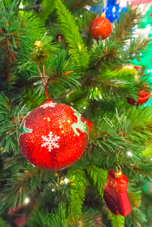 Christmas ornaments on the Christmas tree. photo