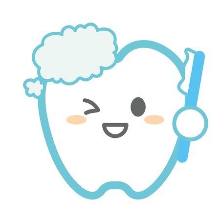 teeth brushing teeth Ilustração