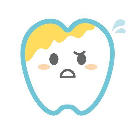 Tartar Dirty Teeth Illustration
