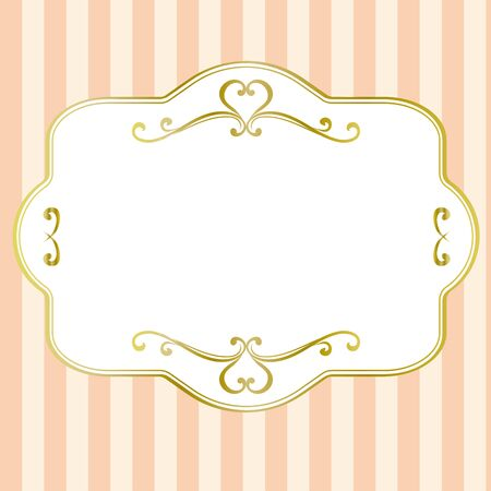 Antique-style frame background