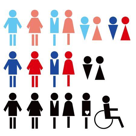 Toilet pictogram Ilustração