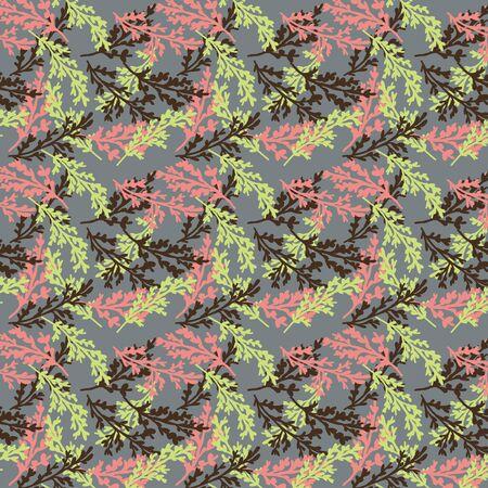 Seamless patterns of plants Illustration