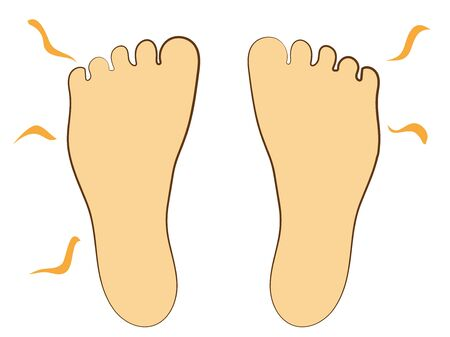 The soles of the feet, the smell. Illustration