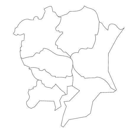 Map of White Japan by Block in Kanto Region
