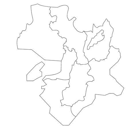 Map of White Japan by Block in Region