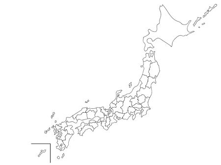 Map of Japan White Map Coloring Book