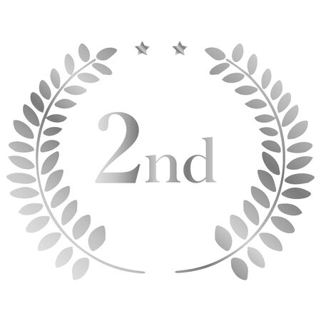Laurel: Laurel Crown Ranking 2nd  イラスト・ベクター素材