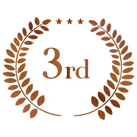 Laurel: Laurel Crown 3rd place 写真素材 - 141444795