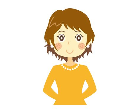 Smiling woman with her back hand Ilustração