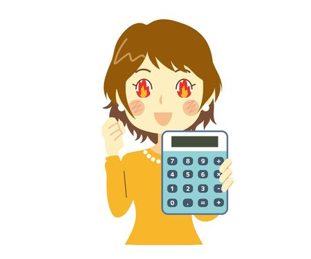 a woman who is enthusiastic about saving money 向量圖像