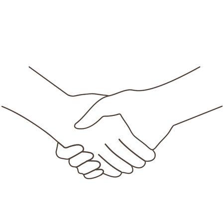 Handshake Friendship Monochrome